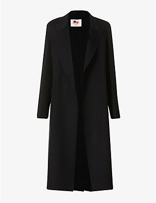 PORTS 1961: Padded-shoulders wool and cashmere-blend coat