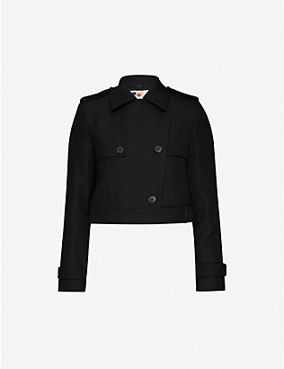 PORTS 1961: Cropped double-breasted wool jacket