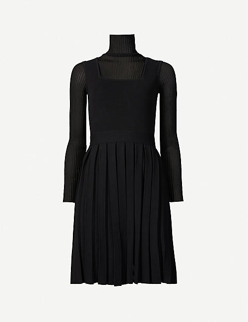 PORTS 1961: Pleated woven midi dress
