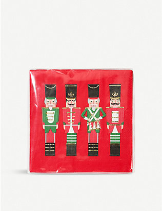 TALKING TABLES: Nutcracker napkin pack of 20