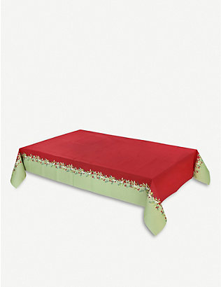 TALKING TABLES: Botanical Berry paper table cover 180 x 120cm
