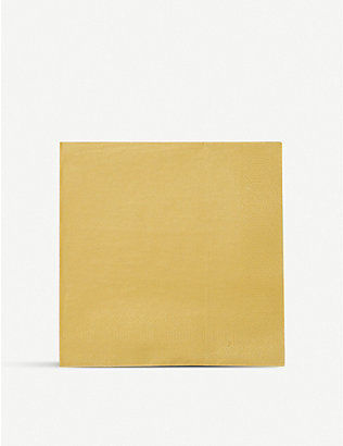 TALKING TABLES: Luxe Gold paper napkins pack of 20