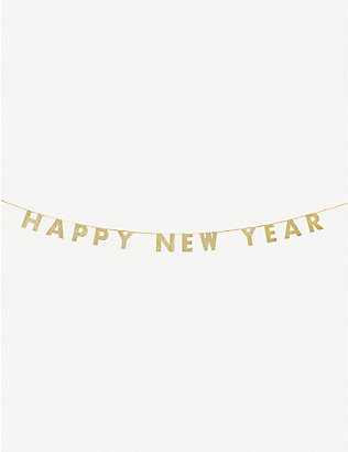 TALKING TABLES: Happy New Year glitter garland 3m