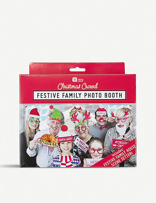 TALKING TABLES: Festive family photo booth kit