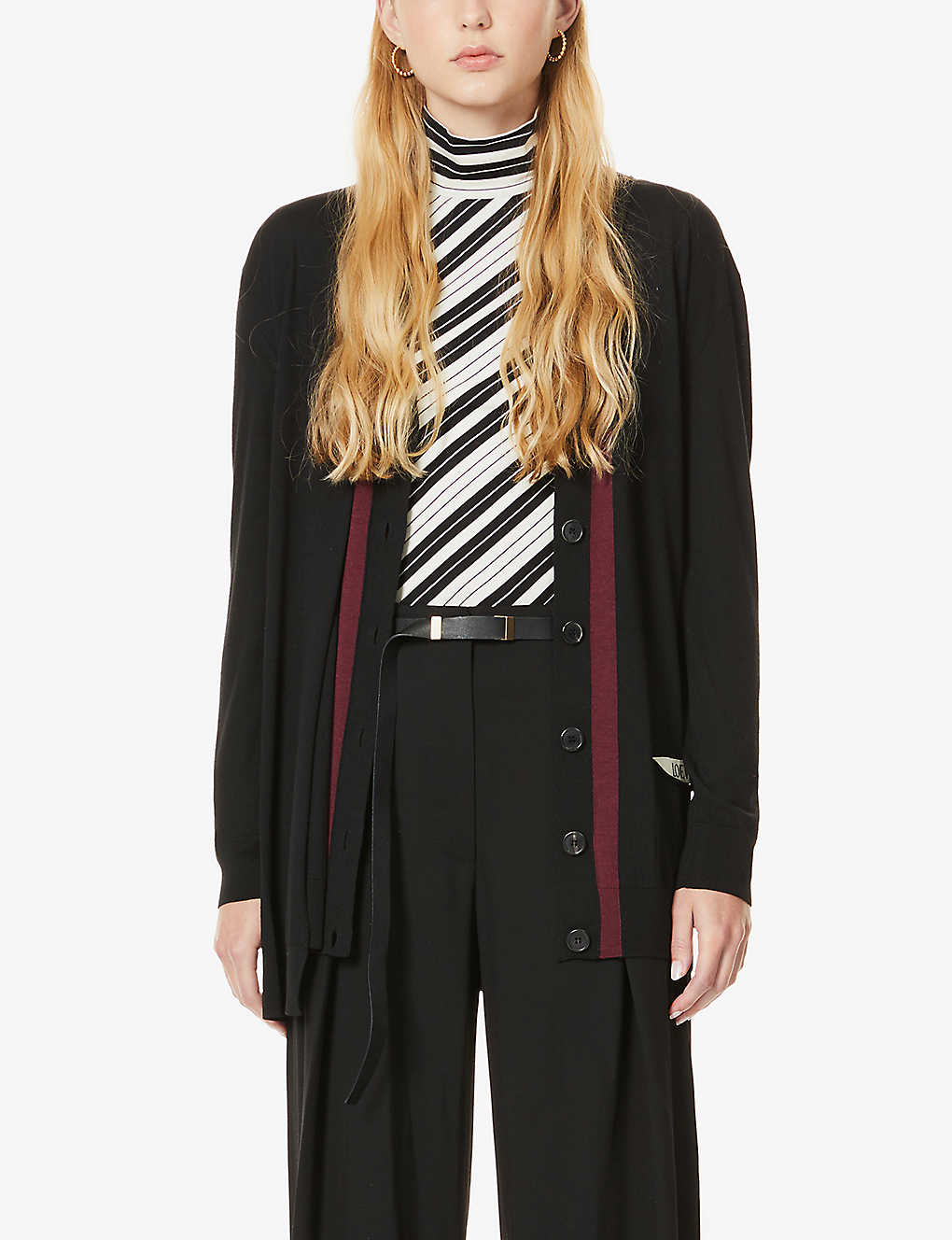 LOEWE: Brand-embroidered wool cardigan