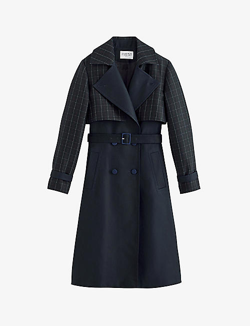 CLAUDIE PIERLOT: Gardien double-breasted trench coat