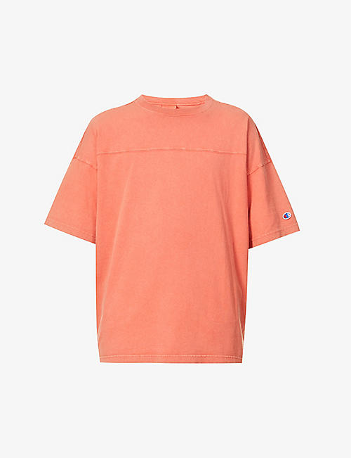 CHAMPION: Garment-dyed relaxed-fit cotton-jersey T-shirt