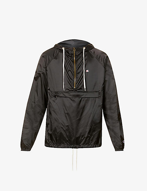 CHAMPION: Half-zip hooded shell jacket