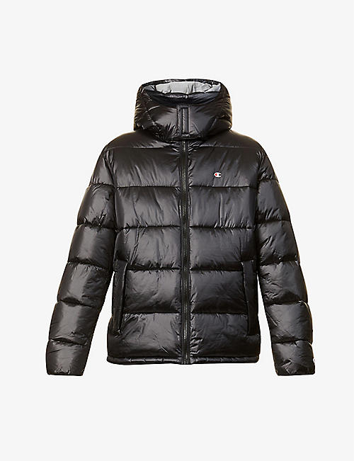 CHAMPION: Brand-embroidered padded shell jacket