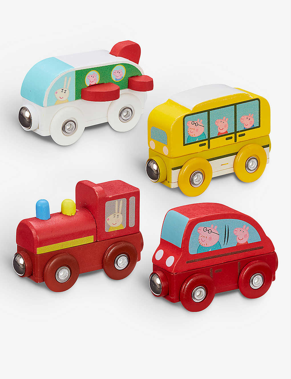 PEPPA PIG: Wooden adjoining mini vehicle assorted toy