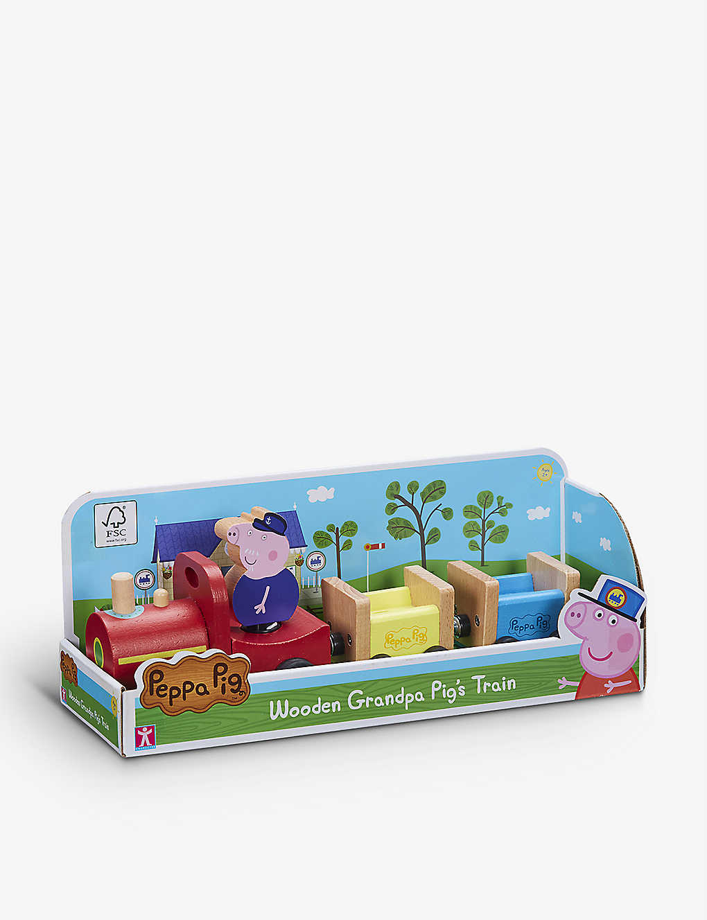 PEPPA PIG: Grandpa's train and wooden carriage set