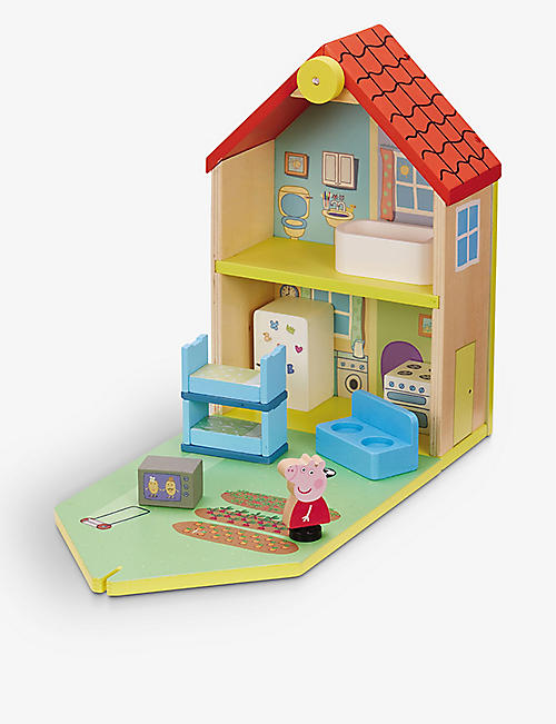 PEPPA PIG: Peppa Pig Wooden Family Home playset 31.7cm