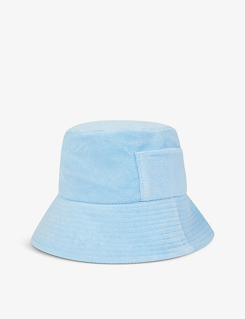 LACK OF COLOR: Wave cotton-towelling bucket hat