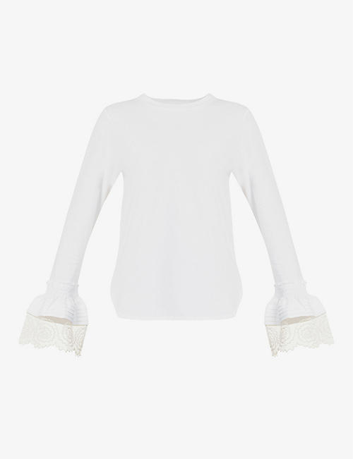 SEE BY CHLOE: Flared cotton-jersey top