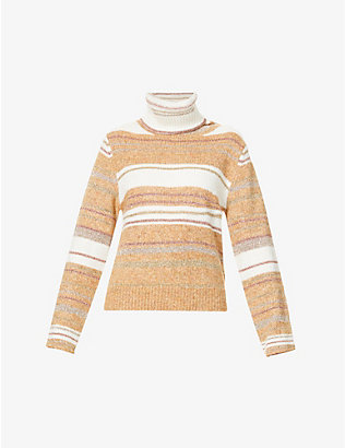 SEE BY CHLOE: Striped turtleneck knitted jumper