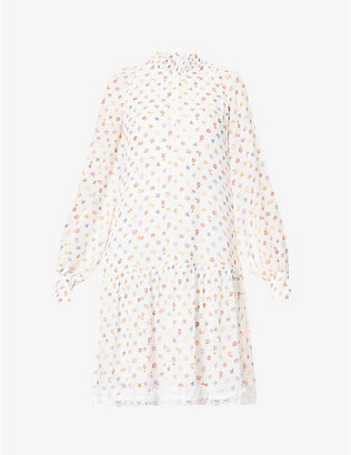 SEE BY CHLOE: Floral-print chiffon mini dress