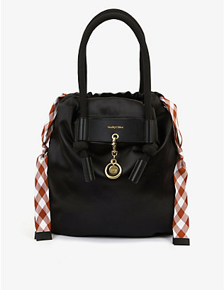 SEE BY CHLOE: Beth reversible satin tote bag