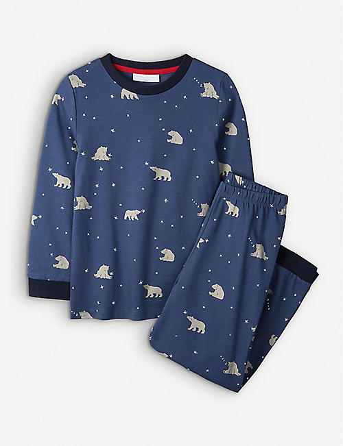 THE LITTLE WHITE COMPANY: Bear cotton pyjamas 1-6 years