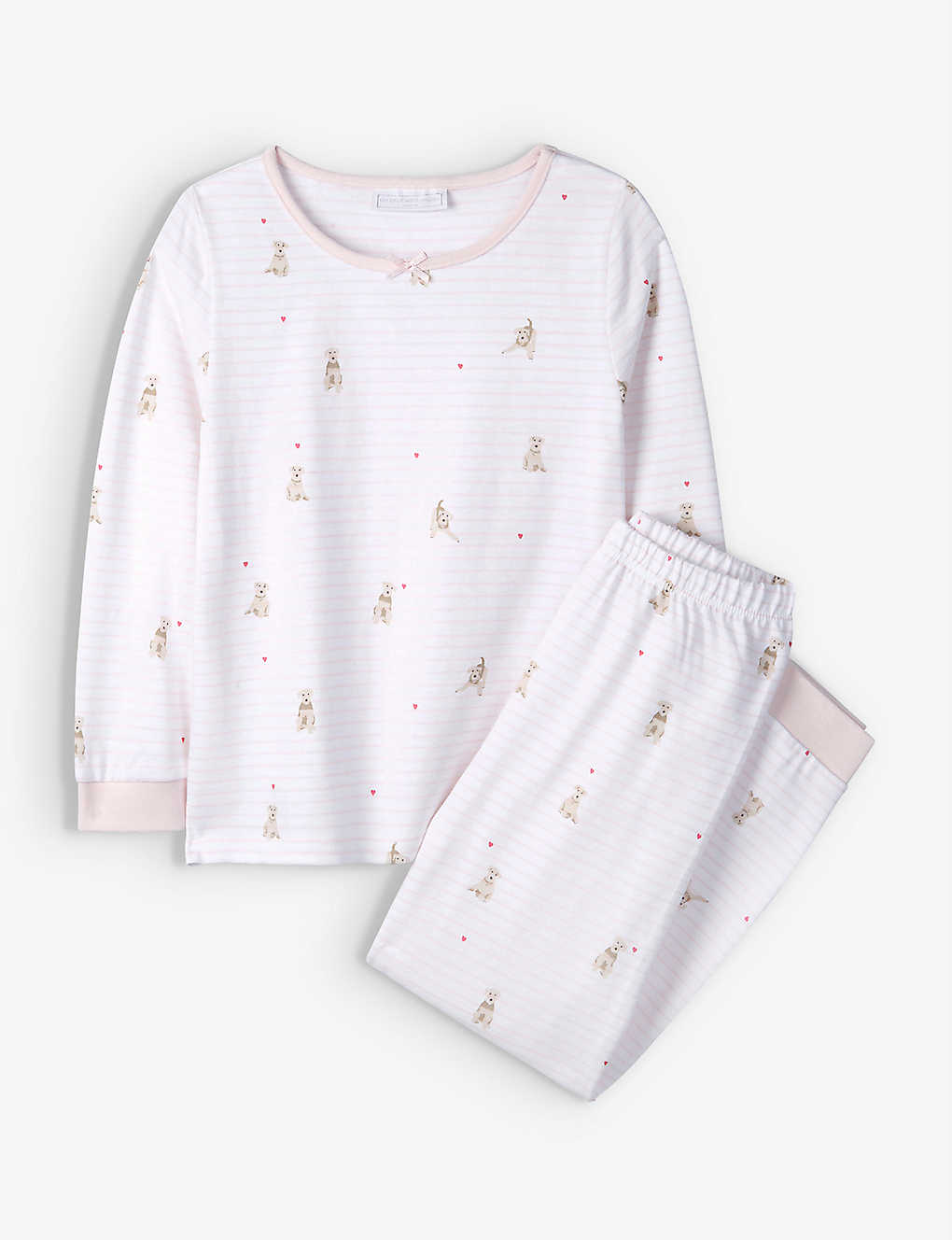 THE LITTLE WHITE COMPANY: Graphic-print cotton pyjamas 1-6 years