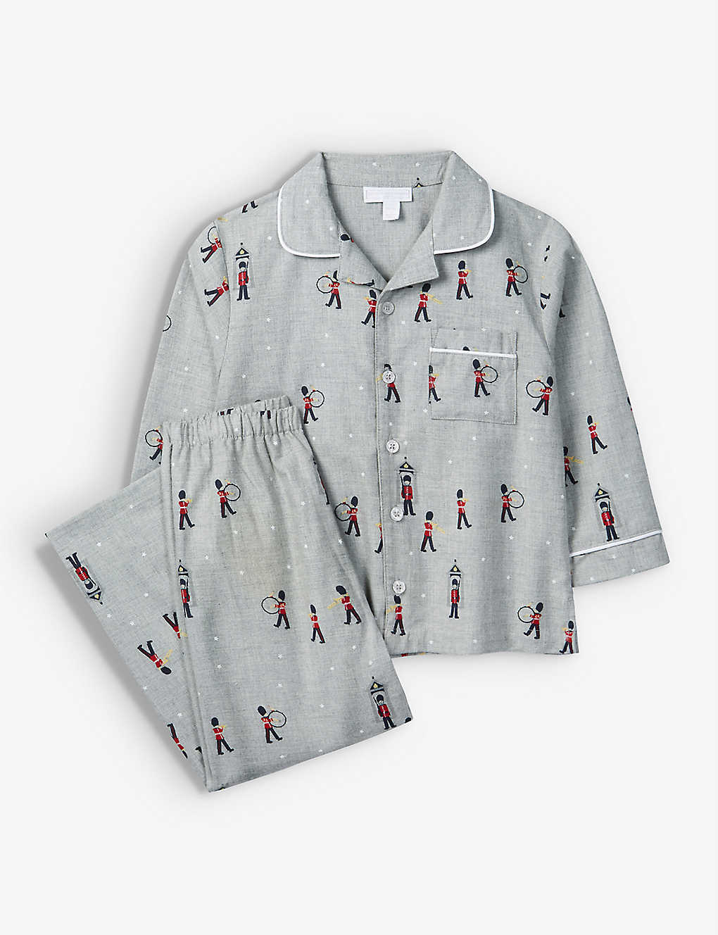 THE LITTLE WHITE COMPANY: London soldier cotton pyjamas 1-6 years