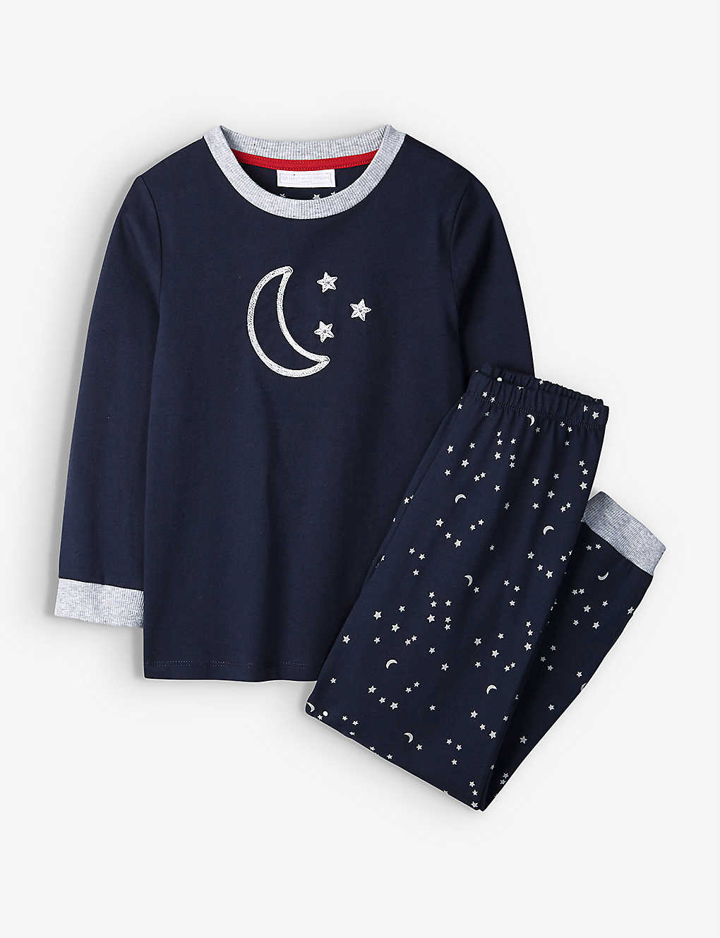 THE LITTLE WHITE COMPANY: Graphic-print cotton pyjamas 7-12 years