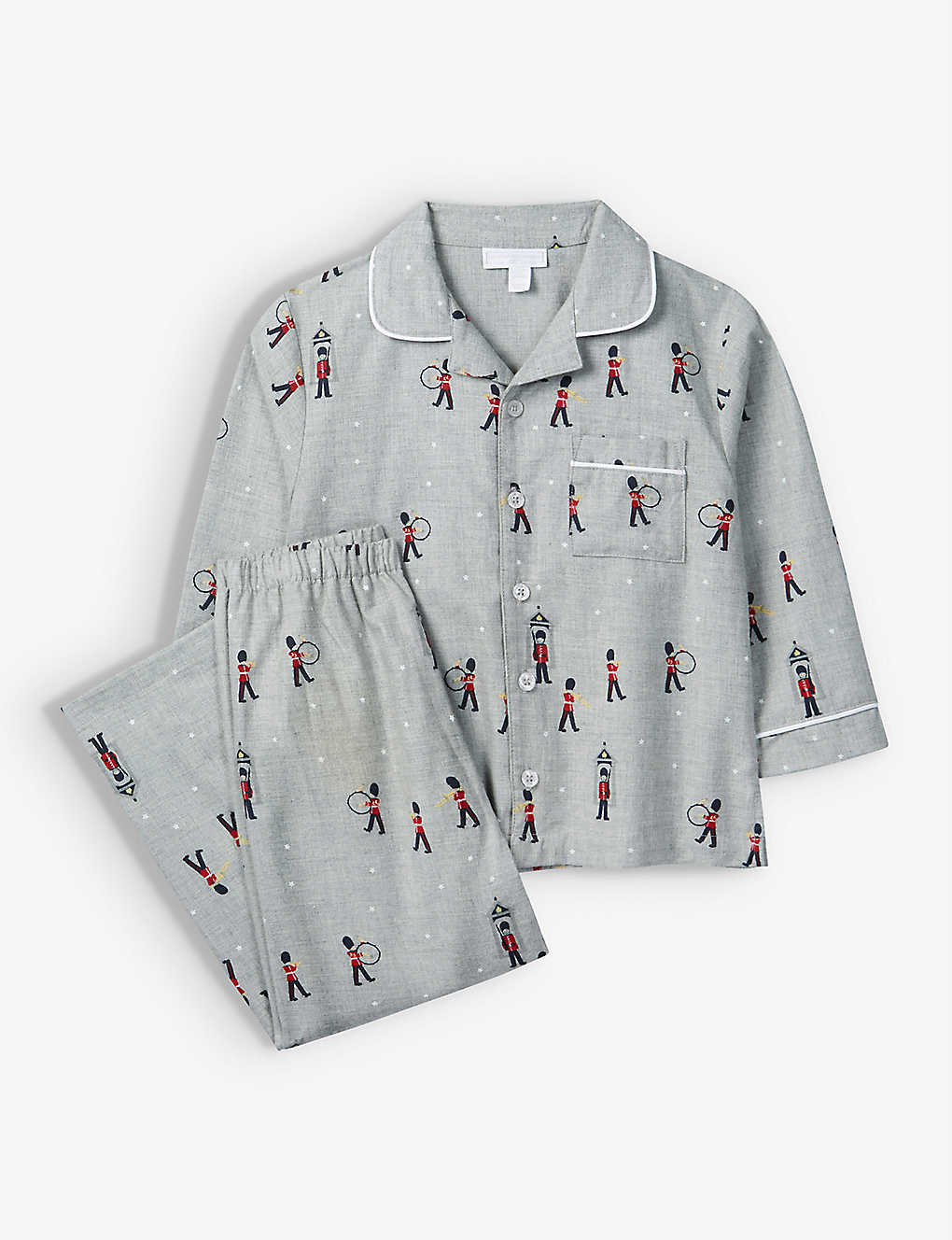 THE LITTLE WHITE COMPANY: London soldier cotton pyjamas 7-12 years