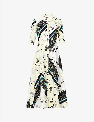 ERDEM: Kasia floral-print cotton maxi dress