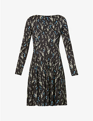 ERDEM: Martine floral-print woven mini dress