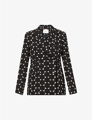 ERDEM: Graphic-print stretch-woven jacket