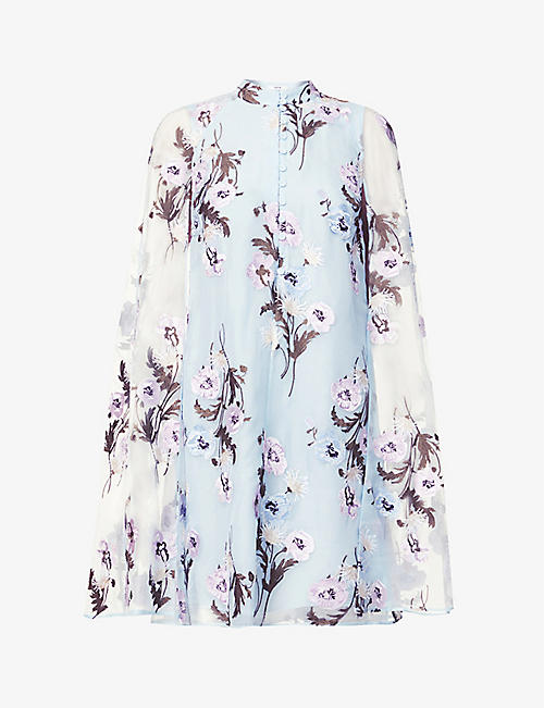 ERDEM: Caelyn floral-print silk mini dress