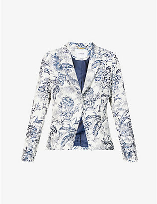 ERDEM: Iris floral-print cotton-blend jacket