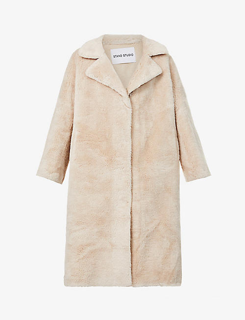 STAND: Wendy textured wool coat