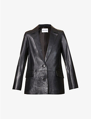 STAND: Catherine leather blazer