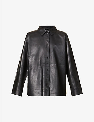 STAND: Dee relaxed-fit leather shirt