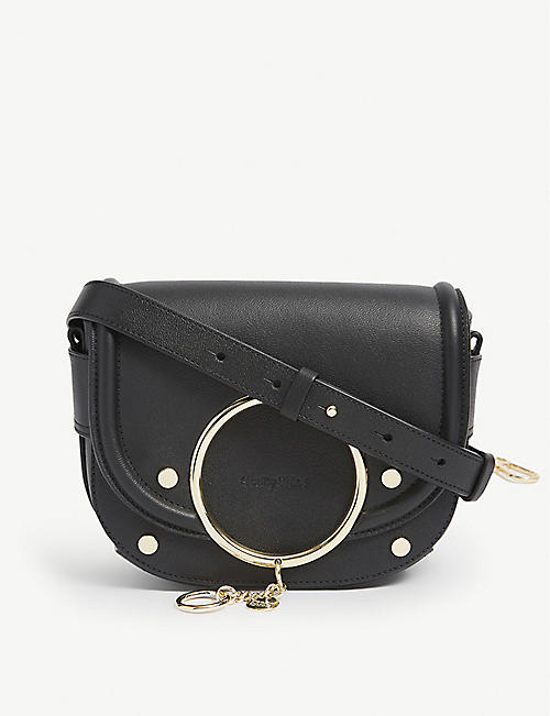 SEE BY CHLOE: Mara leather crossbody saddle bag