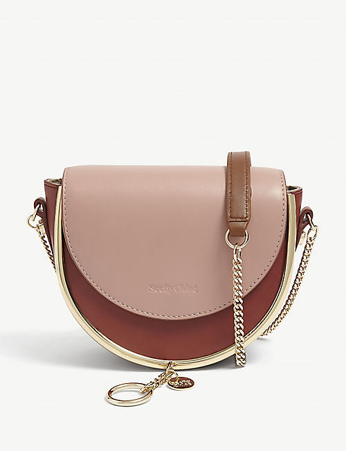 SEE BY CHLOE: Mara colour-block leather cross-body bag