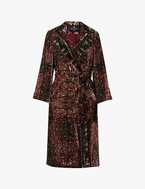 ETRO: Graphic-printed velvet coat
