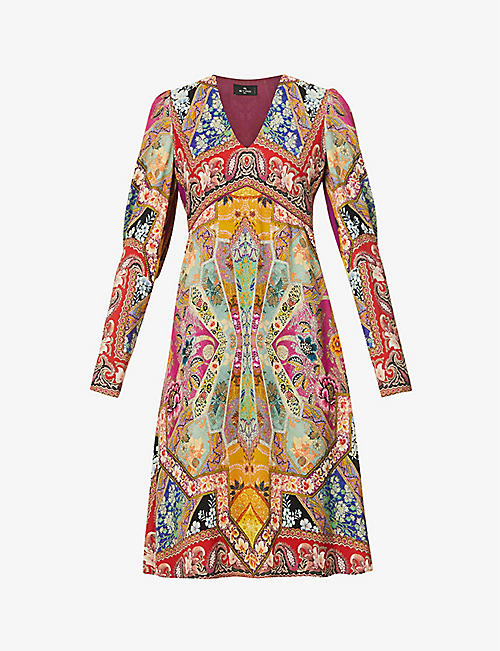 ETRO: Timor floral-print stretch-crepe midi dress