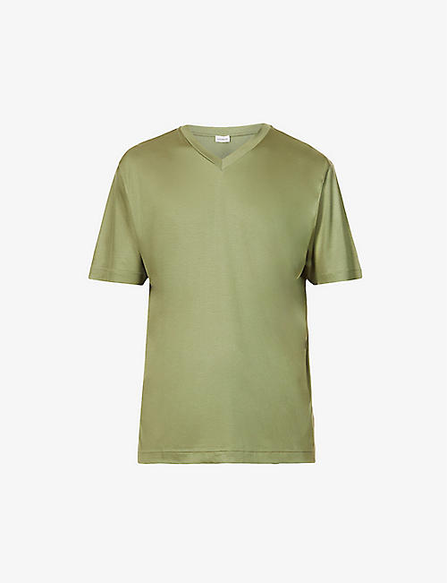 ZIMMERLI: V-neck cotton-jersey T-shirt