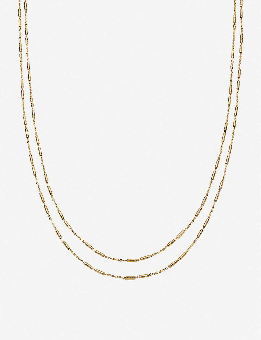 MISSOMA: Vervelle double-chain 18ct gold-plated vermeil silver necklace