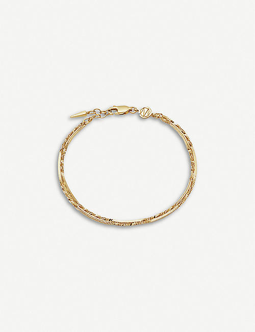 MISSOMA: Isa 18ct yellow gold-plated vermeil bracelet