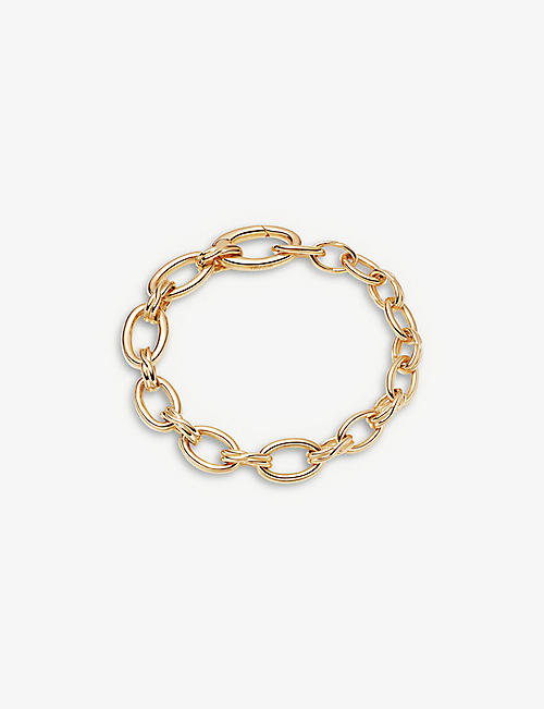 MISSOMA: Graduated oval-link 18ct yellow gold-plated vermeil bracelet