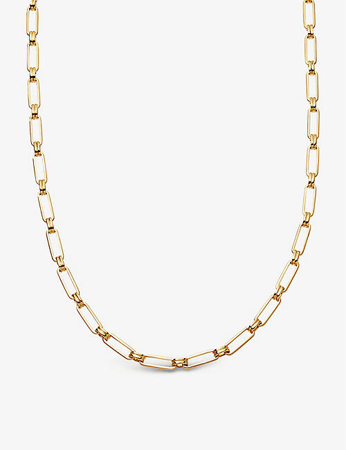 MISSOMA: Aegis 18ct gold-plated brass chain necklace