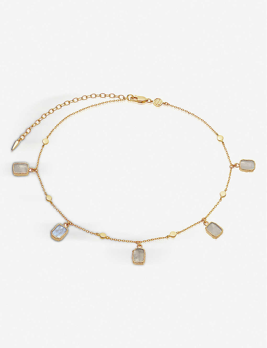 MISSOMA: Lena 18ct yellow gold-vermeil and rainbow moonstone choker necklace