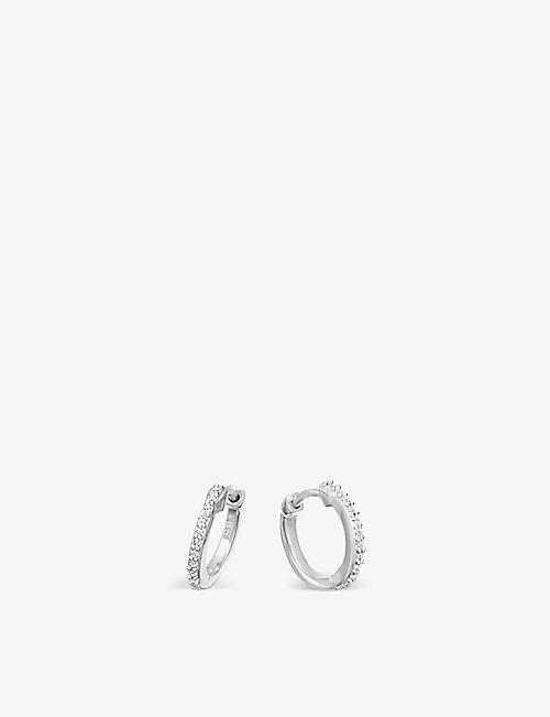MISSOMA: Sterling silver and crystal pave hoop earrings