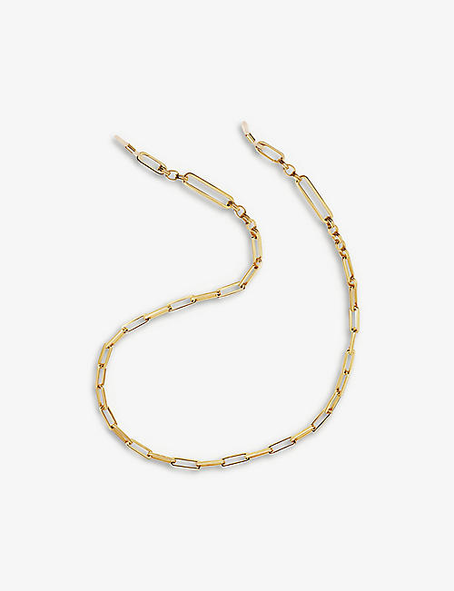 MISSOMA: Axiom 18ct gold-plated eyewear chain