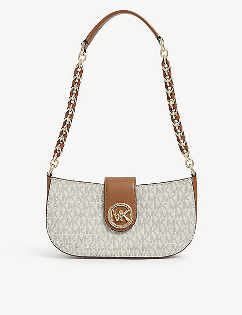 MICHAEL MICHAEL KORS: Carmen canvas pouchette bag