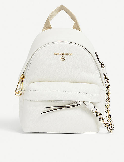 MICHAEL MICHAEL KORS: Slater pebbled-embossed leather backpack