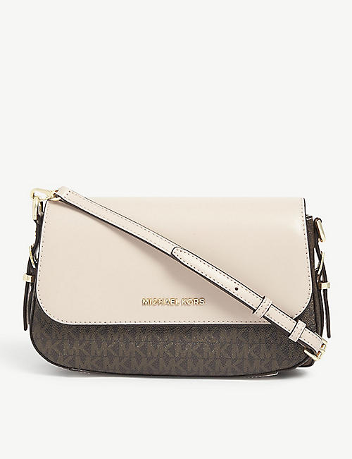 MICHAEL MICHAEL KORS: Bedford Legacy coated-canvas cross-body bag