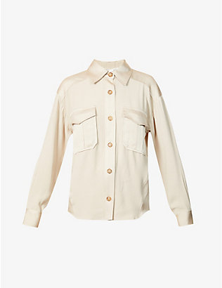 VERONICA BEARD: Ainsley satin-crepe shirt
